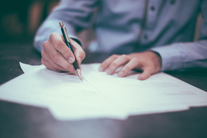 signing bankruptcy papers